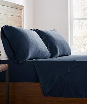 Stone Beam Belgian Flax Linen Bed Sheet Set Breathable And Durable King Aruba 0 4 300x360