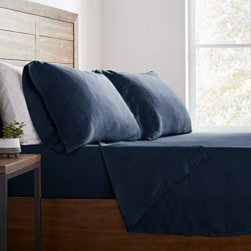 Stone Beam Belgian Flax Linen Bed Sheet Set Breathable And Durable King Aruba 0 4