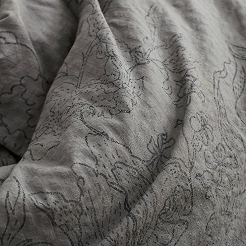 Stone Beam Farmhouse Distressed Seersucker Duvet Cover Set King Grey And Blue 0 1