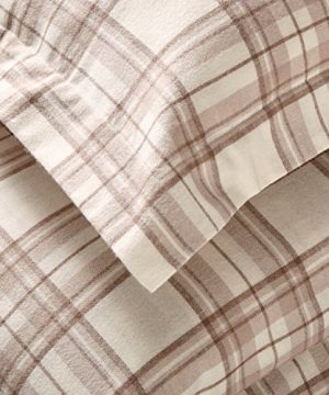 Stone Beam Rustic Plaid Flannel Duvet Cover Set King Ivory And Cream 0 0 300x360
