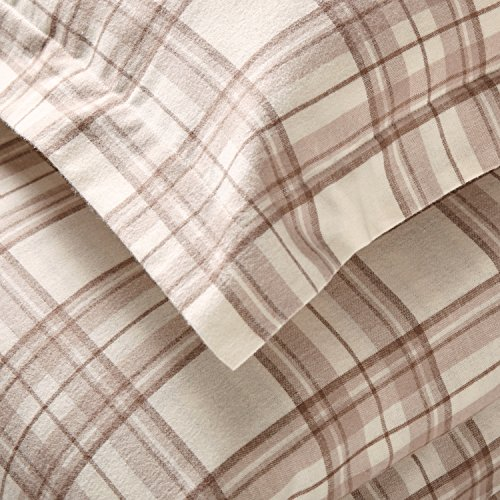 Stone Beam Rustic Plaid Flannel Duvet Cover Set King Ivory And Cream 0 0