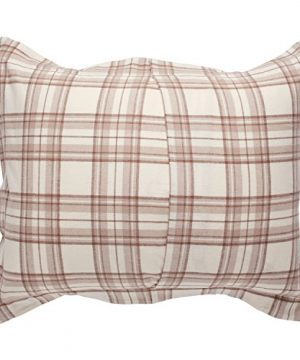 Stone Beam Rustic Plaid Flannel Duvet Cover Set King Ivory And Cream 0 1 300x360