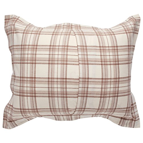 Stone Beam Rustic Plaid Flannel Duvet Cover Set King Ivory And Cream 0 1