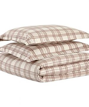 Stone Beam Rustic Plaid Flannel Duvet Cover Set King Ivory And Cream 0 4 300x360