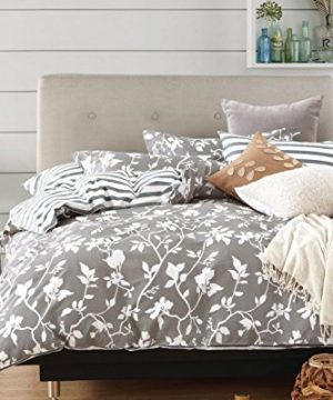Swanson Beddings Leafy Vines 3 Piece 100 Cotton Bedding Set Duvet Cover And Two Pillow Shams Oversized King 0 0 300x360