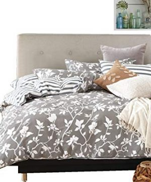 Swanson Beddings Leafy Vines 3 Piece 100 Cotton Bedding Set Duvet Cover And Two Pillow Shams Oversized King 0 300x360