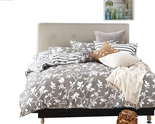 Swanson Beddings Leafy Vines 3 Piece 100 Cotton Bedding Set Duvet Cover And Two Pillow Shams Oversized King 0