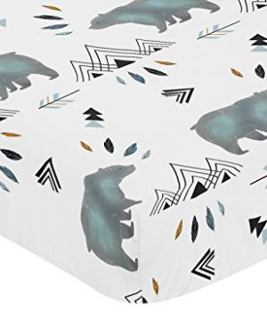 Sweet Jojo Designs Baby Or Toddler Fitted Crib Sheet For Bear Mountain Watercolor Collection 0 0 300x360