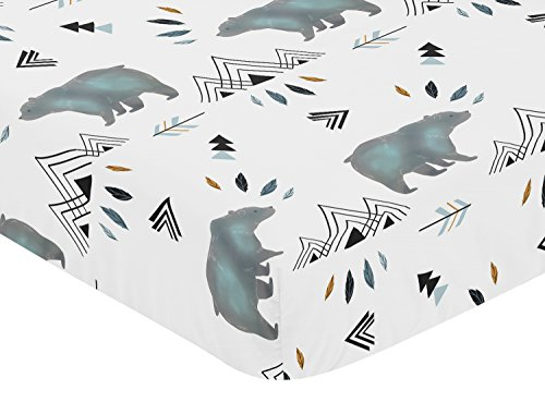 Sweet Jojo Designs Baby Or Toddler Fitted Crib Sheet For Bear Mountain Watercolor Collection 0 0
