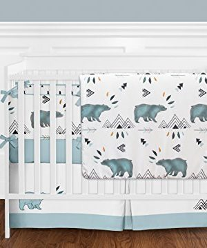Sweet Jojo Designs Baby Or Toddler Fitted Crib Sheet For Bear Mountain Watercolor Collection 0 1 300x360