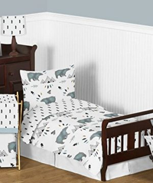 Sweet Jojo Designs Baby Or Toddler Fitted Crib Sheet For Bear Mountain Watercolor Collection 0 2 300x360