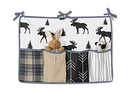 Sweet Jojo Designs Blue Tan Grey And Black Woodland Plaid And Arrow Rustic Patch Baby Boy Nursery Crib Bedding Set Without Bumper 11 Pieces 0 0