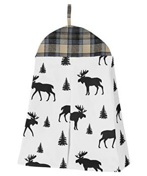 Sweet Jojo Designs Blue Tan Grey And Black Woodland Plaid And Arrow Rustic Patch Baby Boy Nursery Crib Bedding Set Without Bumper 4 Pieces 0 3 300x360