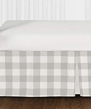Sweet Jojo Designs Gray And White Rustic Farmhouse Woodland Flannel Grey Buffalo Plaid Check Baby Unisex Boy Or Girl Nursery Crib Bedding Set Without Bumper 4 Pieces Country Lumberjack 0 0 300x360