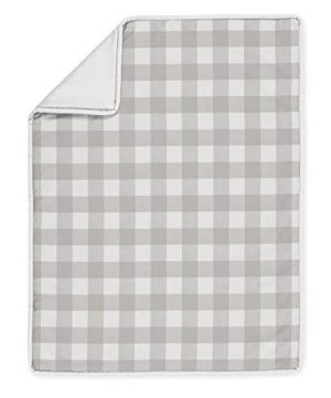 Sweet Jojo Designs Gray And White Rustic Farmhouse Woodland Flannel Unisex Boy Girl Nursery Crib Bedding Set With Bumper 9 Pieces For Grey Buffalo Plaid Check Collection Country Lumberjack 0 2 300x360