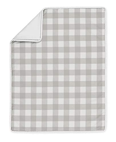 Sweet Jojo Designs Gray And White Rustic Farmhouse Woodland Flannel Unisex Boy Girl Nursery Crib Bedding Set With Bumper 9 Pieces For Grey Buffalo Plaid Check Collection Country Lumberjack 0 2