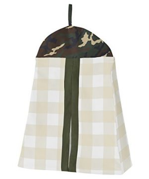 Sweet Jojo Designs Green And Beige Deer Buffalo Plaid Check Woodland Camo Baby Boy Crib Bedding Set Without Bumper 4 Pieces Rustic Camouflage 0 0 300x360