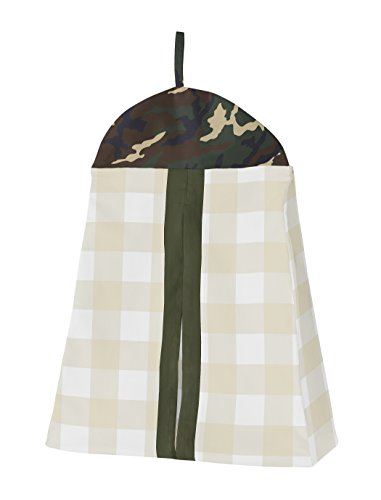 Sweet Jojo Designs Green And Beige Deer Buffalo Plaid Check Woodland Camo Baby Boy Crib Bedding Set Without Bumper 4 Pieces Rustic Camouflage 0 0