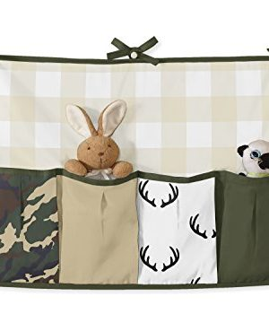 Sweet Jojo Designs Green And Beige Deer Buffalo Plaid Check Woodland Camo Baby Boy Crib Bedding Set With Bumper 9 Pieces Rustic Camouflage 0 2 300x350