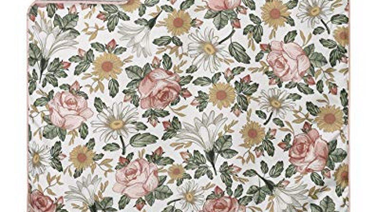 Sweet Jojo Designs Vintage Floral Boho Baby Girl Nursery Crib