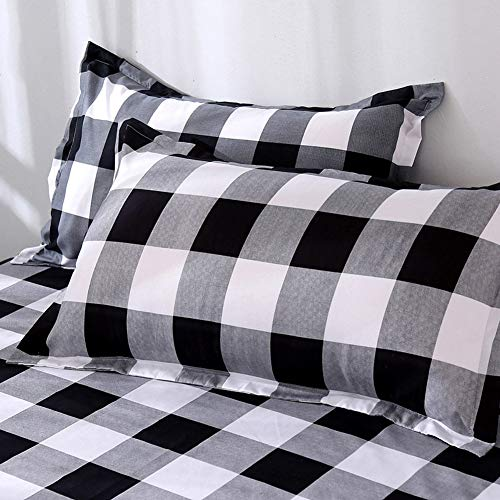 TEALP Buffalo Plaid Bedding Set Queen Size Farmhouse Duvet Cover Set No Comforter No Bed Sheet Queen Black And White 0 2