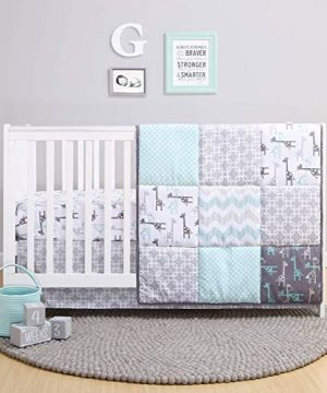 The Peanutshell Giraffe Crib Bedding Set For A Boy Girl And Unisex Nursery Baby Quilt Fitted Crib Sheet Crib Skirt Included 0 300x360