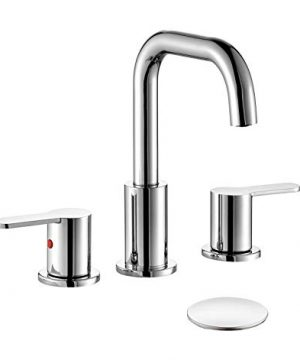 TimeArrow TAF288S CP Two Handle 8 Inch Widespread Bathroom Sink Faucet With Pop Up Drain Chrome 0 300x360
