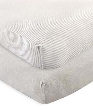Touched By Nature Organic Fitted Crib Sheets 2 Pack Heather Gray One Size 0 300x360