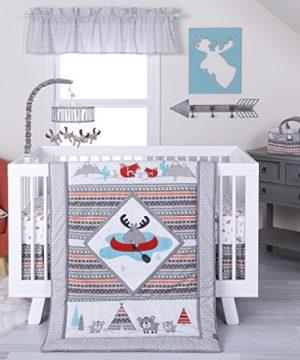Trend Lab Moose Canoe 4Piece Crib Bedding Set 0 300x360