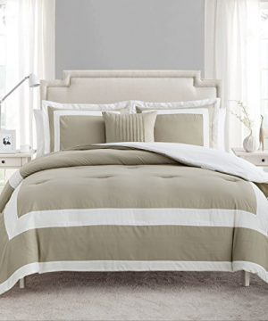 VCNY Home AVO 4CS KING IN TA Avianna Comforter Set King Taupe 0 300x360