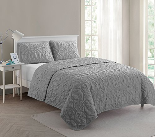 VCNY Home Shore Quilt Set King Grey 0 0