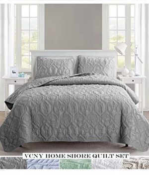 VCNY Home Shore Quilt Set King Grey 0 300x360