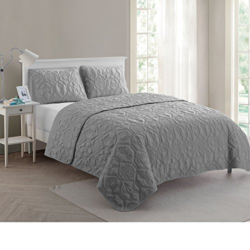 VCNY Home Shore Quilt Set King Grey 0 5