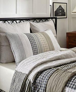 VHC Brands Farmhouse Bedding Ashmont Quilt Queen Warm Grey 0 0 300x360