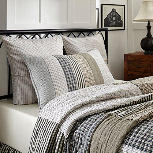 VHC Brands Farmhouse Bedding Ashmont Quilt Queen Warm Grey 0 0