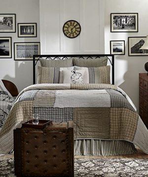 VHC Brands Farmhouse Bedding Ashmont Quilt Queen Warm Grey 0 1 300x360