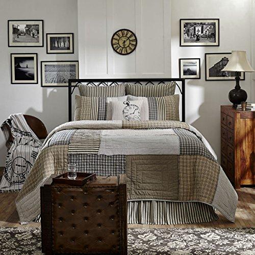 VHC Brands Farmhouse Bedding Ashmont Quilt Queen Warm Grey 0 1