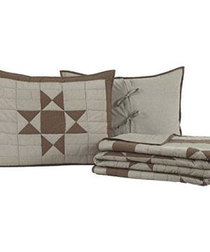 VHC Brands Primitive Bedding Ohio Star Quilt Set Queen 0 300x360