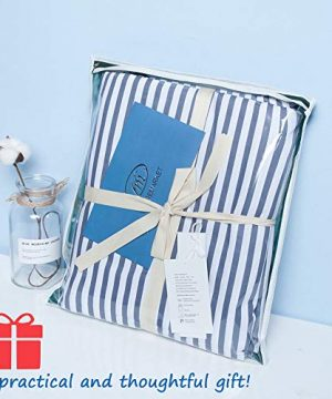 VM VOUGEMARKET 3 Piece Duvet Cover Set QueenStriped Duvet Cover With 2 Pillow Shams Hotel Quality 100 Cotton Luxurious Comfortable Breathable Soft And Extremely Durable QueenColette 0 4 300x360