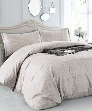 Villa Feel Duvet Cover Queen Egyptian Cotton Bedding Duvet Cover Set 3 Piece Ultra Soft And Easy Care Simple Vintage Style Percale Weave Farmhouse Bedding Soft And DurableQueen Grey 0 0 300x360
