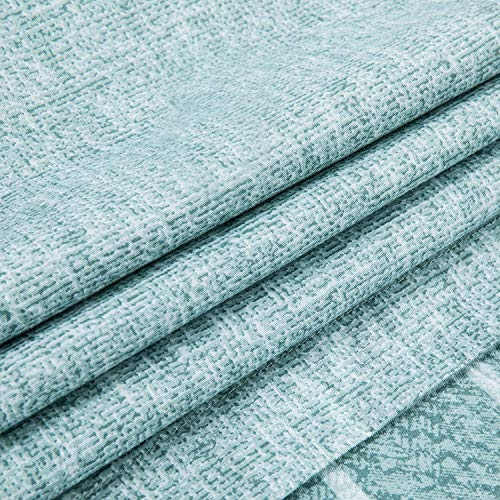 Villa Feel Queen Duvet Cover Egyptian Cotton Bedding Queen Duvet Cover Set 3 Piece Ultra Soft And Easy Care Simple Vintage Style Percale Weave High Thread Count Farmhouse BeddingQueenTeal 0 4