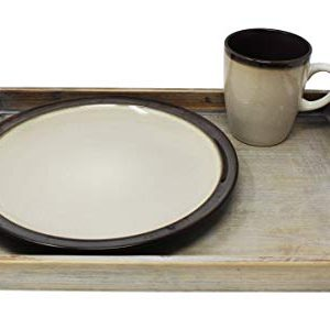 Vintage Rustic Torched Wood Country Nesting Breakfast Trays White Washed Tray Set For Serving Breakfast Coffee Lunch Or Dinner 3 Piece 0 4 300x289