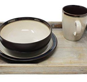 Vintage Rustic Torched Wood Country Nesting Breakfast Trays White Washed Tray Set For Serving Breakfast Coffee Lunch Or Dinner 3 Piece 0 5 300x283