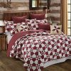Virah Bella Hunters Star Country Farm House Style Reversible Printed Quilt Set Red King 0 100x100