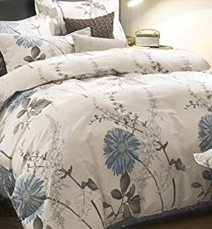 Wake In Cloud Floral Comforter Set Botanical Flowers Pattern Printed 100 Cotton Fabric With Soft Microfiber Inner Fill Bedding 3pcs Queen Size 0 300x324