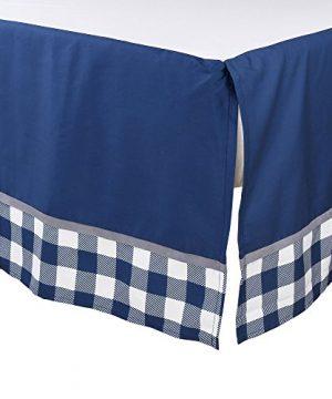 Woodland Trail 4 Piece Forest Animal Theme Patchwork Baby Boy Crib Bedding Set Navy Blue Plaid 0 1 300x360