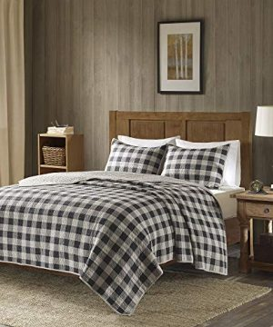 Woolrich Buffalo Check KingCal King Size Quilt Bedding Set Gray Checker Plaid 3 Piece Bedding Quilt Coverlets 100 Cotton Bed Quilts Quilted Coverlet 0 0 300x360