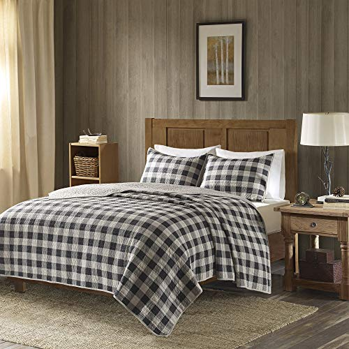 Woolrich Buffalo Check KingCal King Size Quilt Bedding Set Gray Checker Plaid 3 Piece Bedding Quilt Coverlets 100 Cotton Bed Quilts Quilted Coverlet 0 0