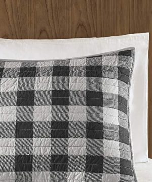 Woolrich Buffalo Check KingCal King Size Quilt Bedding Set Gray Checker Plaid 3 Piece Bedding Quilt Coverlets 100 Cotton Bed Quilts Quilted Coverlet 0 1 300x360