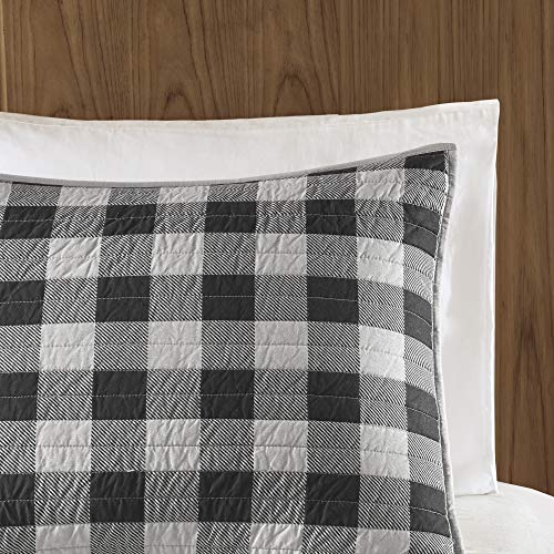 Woolrich Buffalo Check KingCal King Size Quilt Bedding Set Gray Checker Plaid 3 Piece Bedding Quilt Coverlets 100 Cotton Bed Quilts Quilted Coverlet 0 1